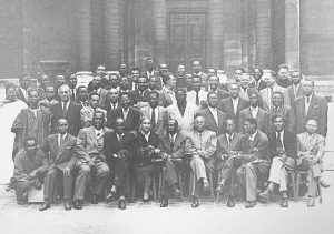 The participants of the first congress of 1956.